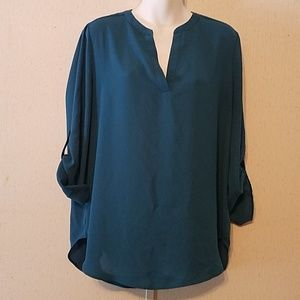 Gorgeous Teal Everleigh by Anthropology Blouse